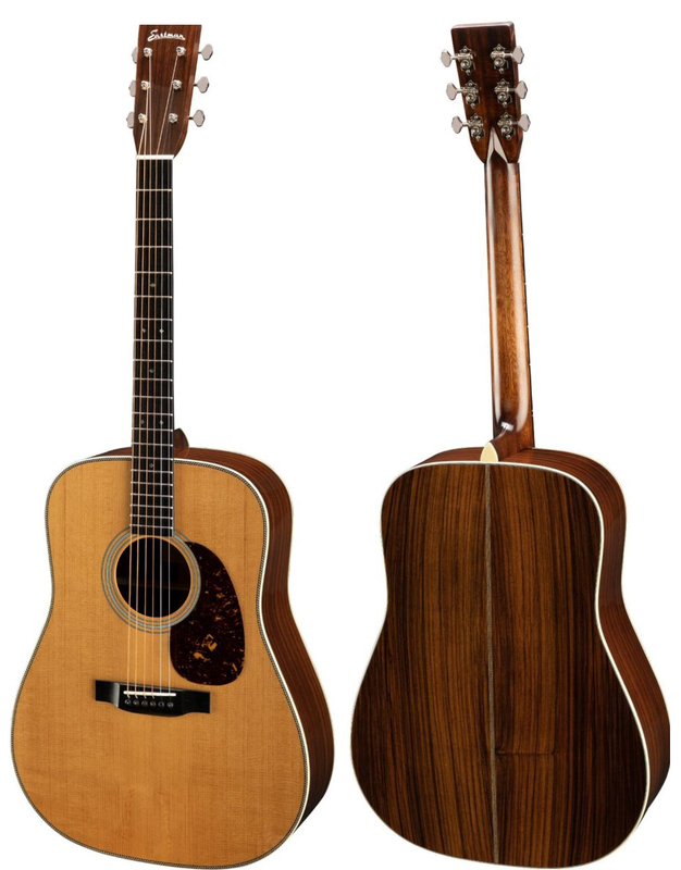 Faith F-JMB, F-OMC and F-OOO acoustic guitars, during a