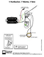 wiring single humbucker