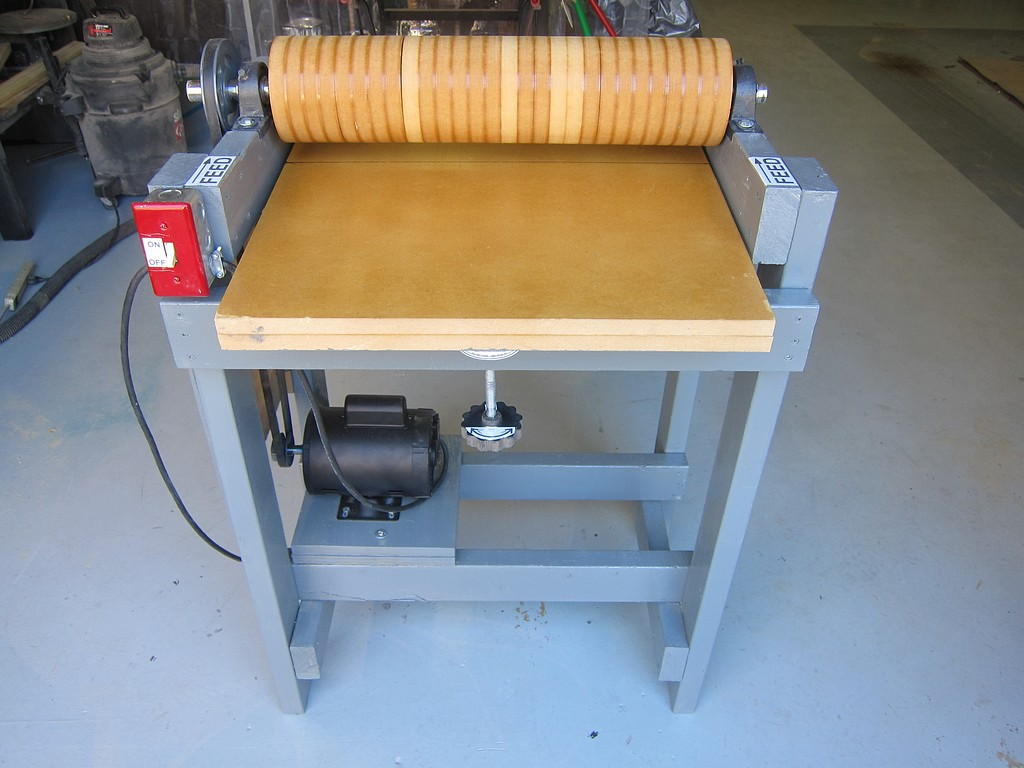 diy drum sander plans. thread: diy thickness sander addition diy drum plans