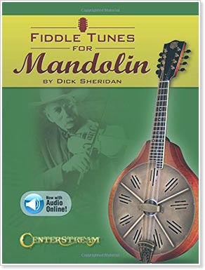 50 legendary selections presented in standard notation and mandolin tablature with large chord diagrams and symbols.