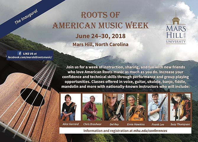 Mars Hill University to Introduce Roots Music Week