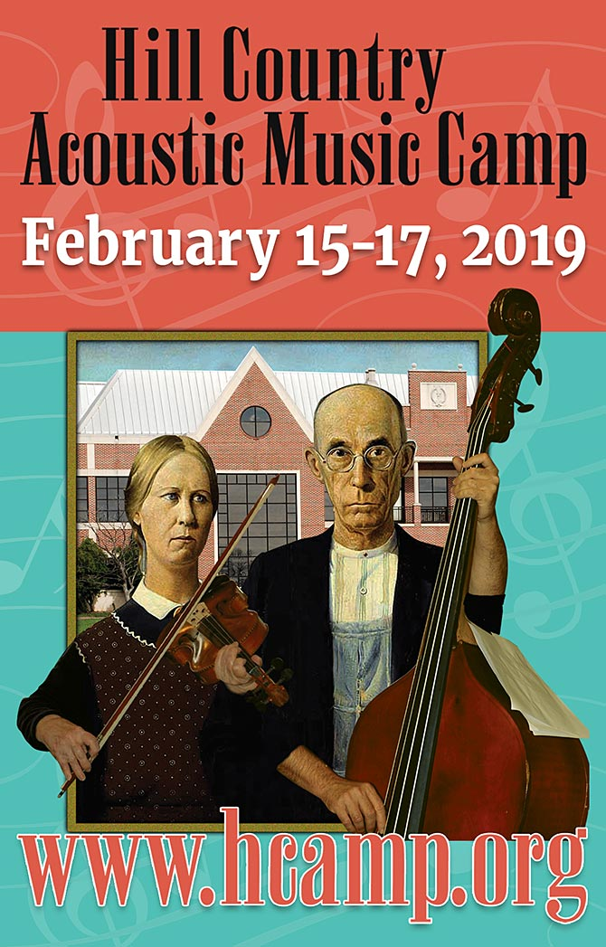 Hill Country Acoustic Music Camp Set for February 15-17, 2019