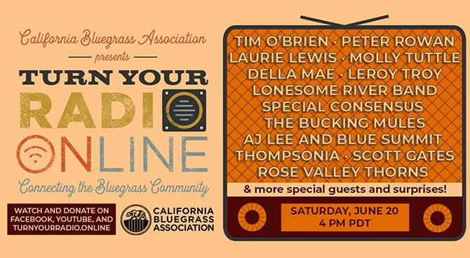 California Bluegrass Association Turn Your Radio - Virtual Father's Day Festival