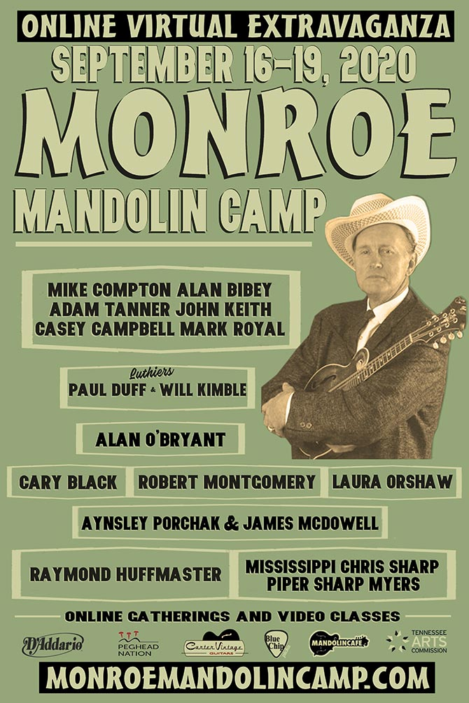 Monroe Mandolin Camp Online Virtual Extravaganza