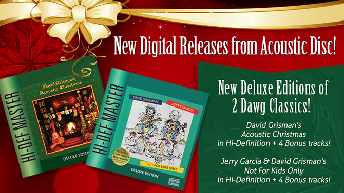 David Grisman's Acoustic Christmas and Not For Kids Only by Jerry Garcia and David Grisman
