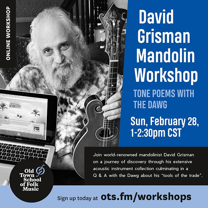 David Grisman Mandolin Workshop: Tone Poems with the Dawg Online Workshop at Old Town School of Folk Music
