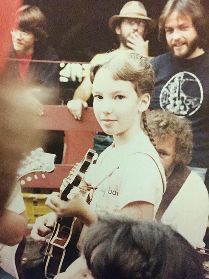Sharon Gilchrist at Walnut Valley Festival, Winfield, Kans,