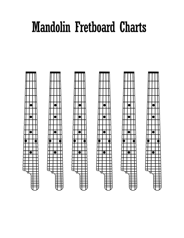 Mandolin Finger Board Diagrams - Seeking Blank Teaching Materials