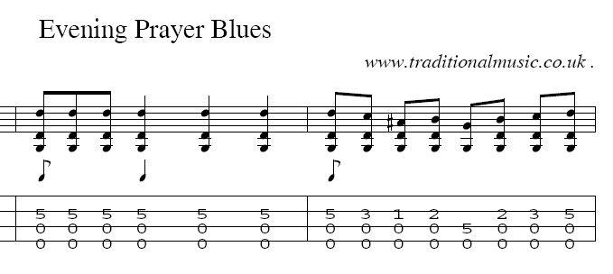 Evening Prayer Blues Picking Question