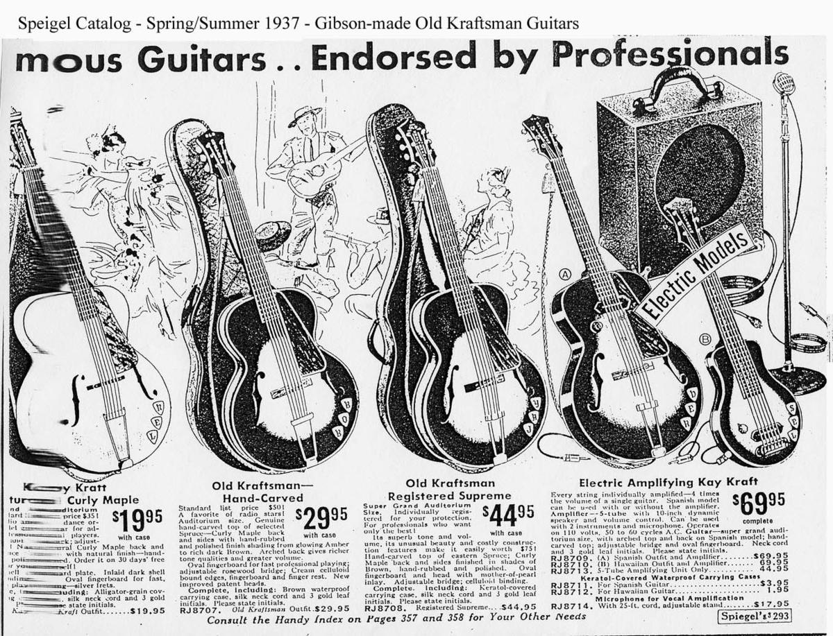The Unique Guitar Blog Norse Guitars Dan Amstrong Blue Clipper Effect Circuit Diagram From 1937 Speigle Catalog Kay Using Old Kraftsmen Logo