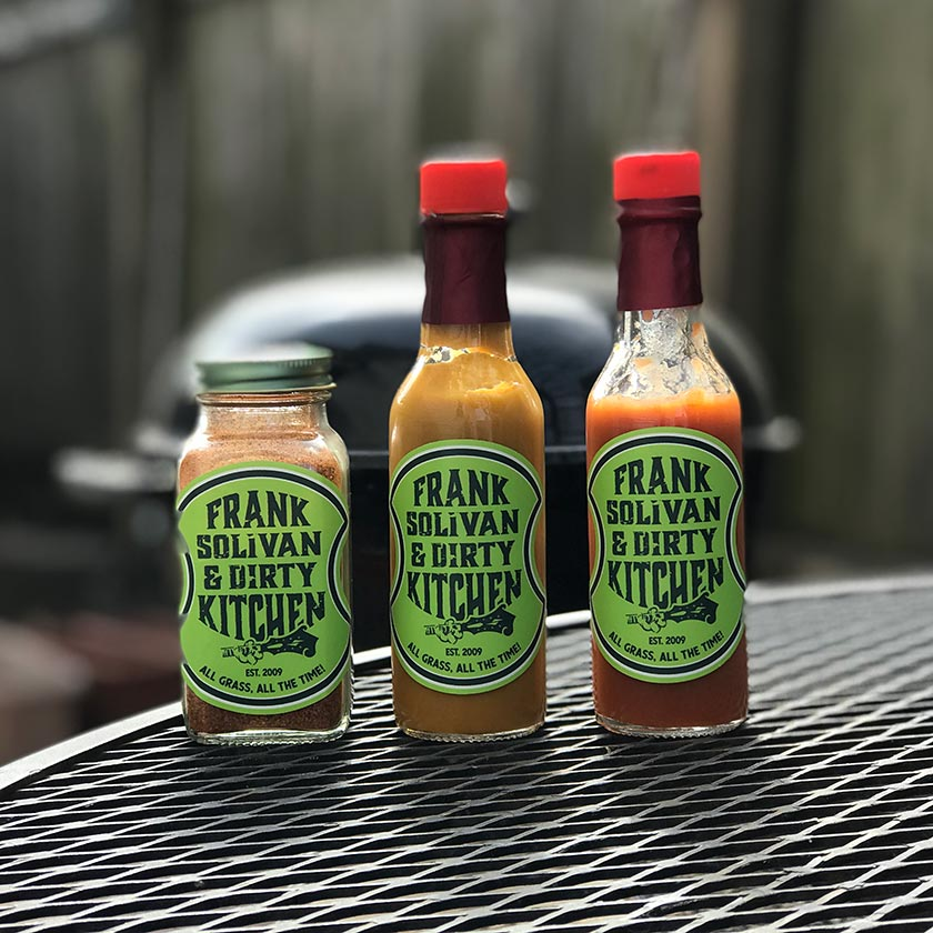 Frank Solivan & Dirty Kitchen Hot Sauces and Dry Marinades