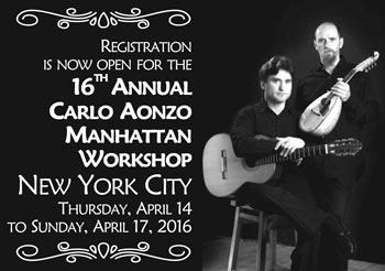 16th Annual Carlo Aonzo Manhattan Workshop, April 14-17
