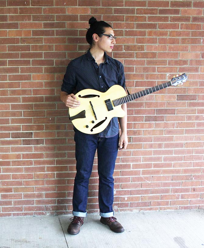 Ethan Setiawan with Shenk mandocello