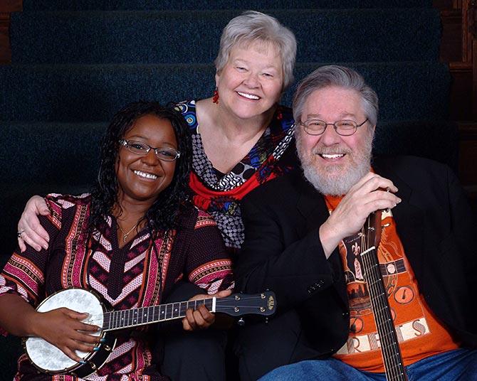 L-R Lillian Werbin, Sandy Dykins and Stan Werbin