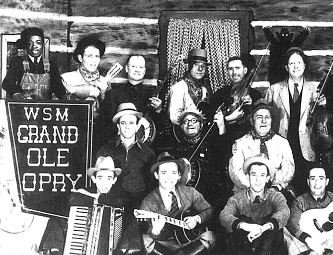 Early Grand Ole Opry photo shoot with DeFord Bailey