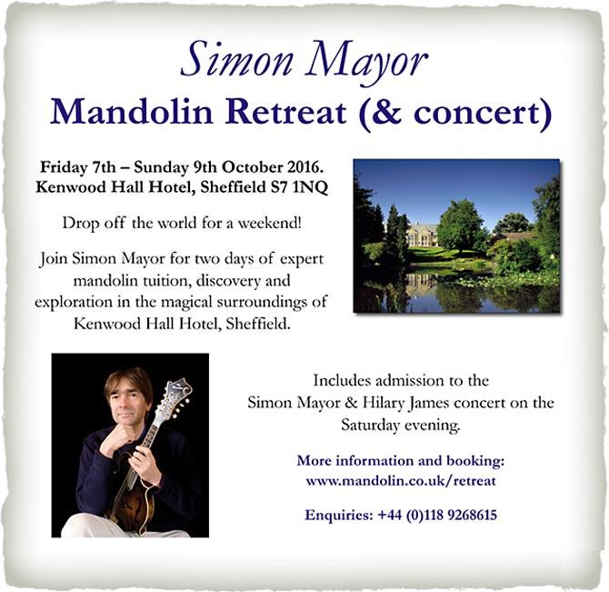Simon Mayor Mandolin Retreat & Concert