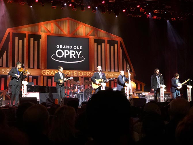 Tristan Scroggins with Dailey & Vincent on the Grand Ol' Opry