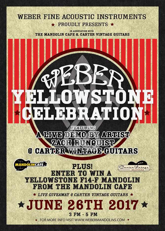 New Weber Yellowstone series unveiling at Carter Vintage Guitars