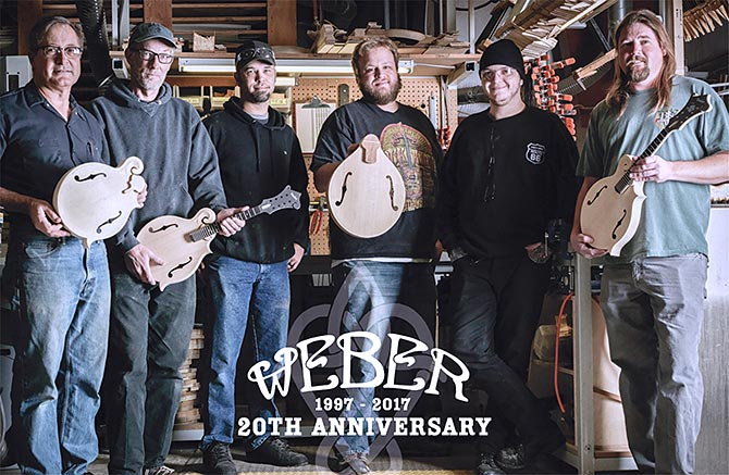Weber Mandolins Celebrates 20 Years
