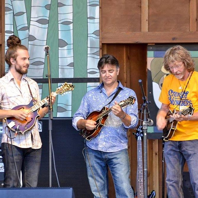 Jacob Jolliff at Tellurie Bluegrass Festival with Ronnie McCoury and Sam Bush