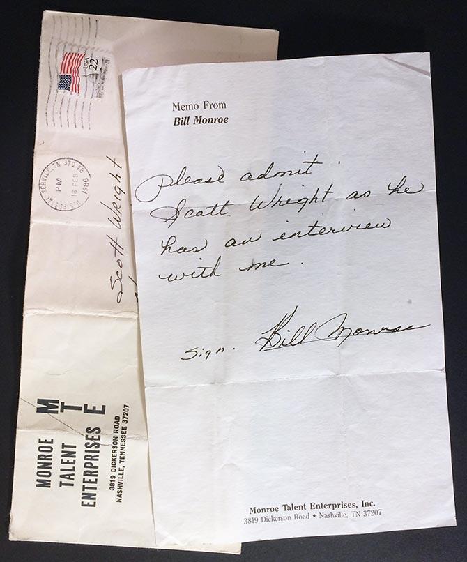 Bill Monroe Interview in Denver, Feb. 19, 1986
