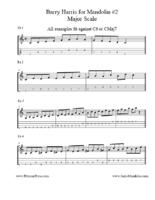 Click image for larger version.  Name:Barry Harris for Mandolin #2 Major Scale.pdf Views:171 Size:178.1 KB ID:175672