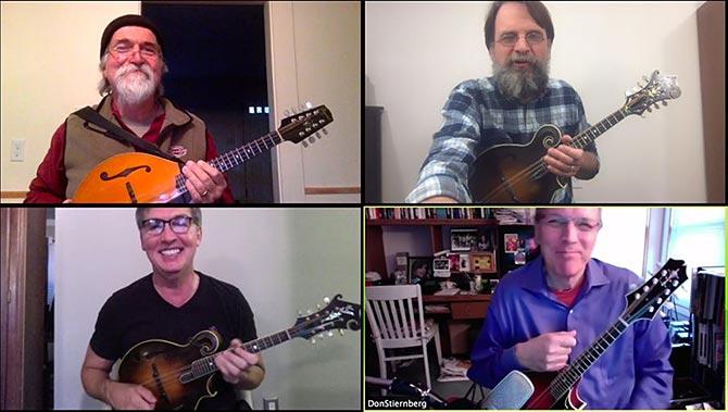 Winter Virtual Mandolin Camp with Alan Bibey, Don Stiernberg, David Surette and Matt Flinner