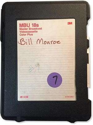 Bill Monroe tapes from the Scott Wright Collection
