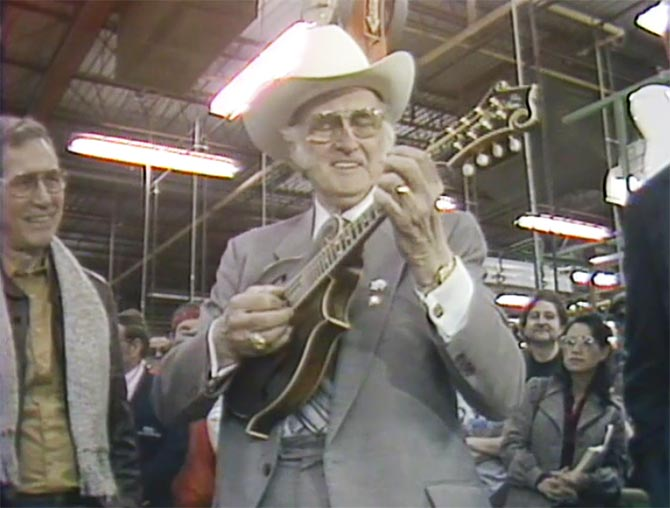 Bill Monroe Receives his Mandolin from Gibson - The Video