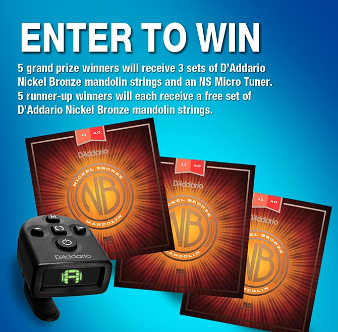 D'Addario Nickel Bronze Mandolin String and NS Micro Tuner Giveaway