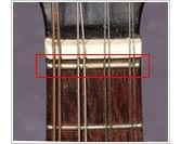 Zero fret - highlighted in red