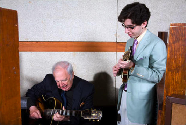 Aaron Weinstein with Bucky Pizzarelli