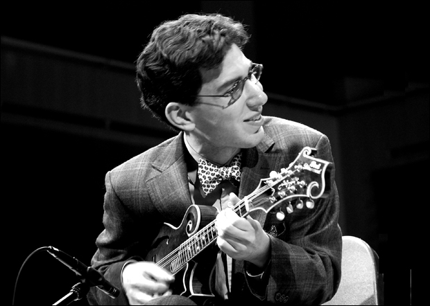 Aaron Weinstein with Red Diamond mandolin