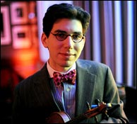 Jazz violinist and mandolinist Aaron Weinstein. Photo credit: New York Daily News.