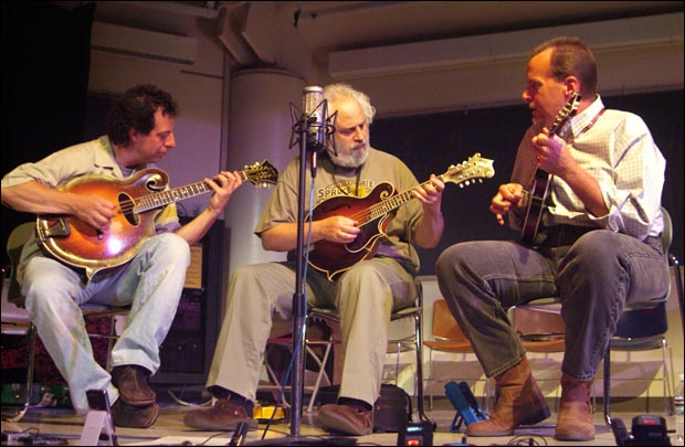 Mike Marshall, David Grisman and Adam Steffey