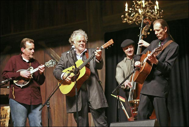 Adam Steffey with Peter Rowan and Tony Rice