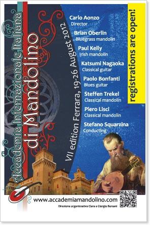 Carlo Aonzo's 7th International Mandolin Academy - Ferrara, Italy, August 19-26, 2012