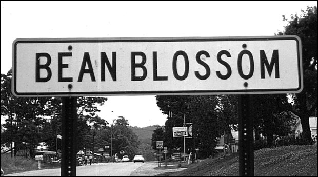 Bean Blossom Town Sign