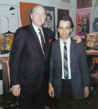 Bill Monroe and Roland White at The Ash Grove coffeehouse, the week Roland was hired to play guitar for Monroe, 1967. Click to enlarge.