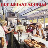 Breakfast Special, 1976. Band included Richard Crooks, Kenny Kosek, Roger Mason, Stacy Phillips, Andy Statman, Jim Tolles and Tony Trischka. Click to purchase from Rounder.