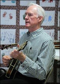 Byron Berline at Wyatt Violin Shop's Fiddle and Mandolin Workshop, Independence, Mo., February 23, 2014.