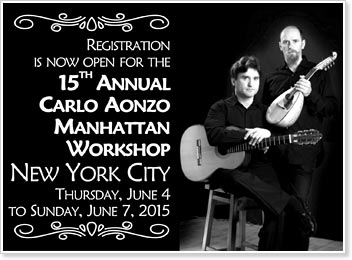 15th Annual Carlo Aonzo Manhattan Workshop