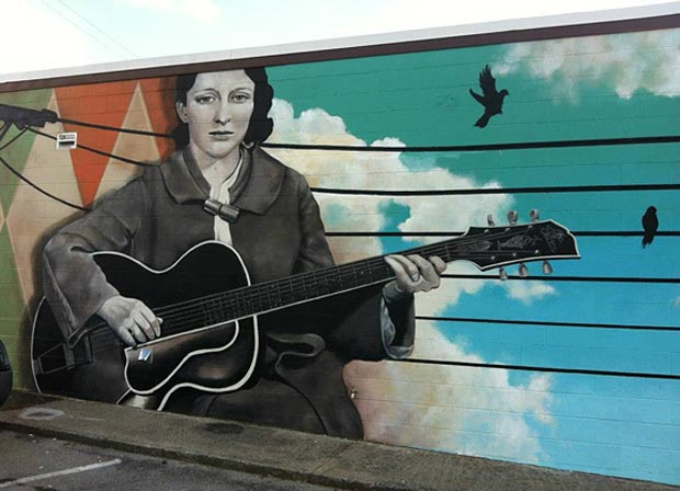 Mother Maybelle Carter - mural at Carter Vintage Guitars
