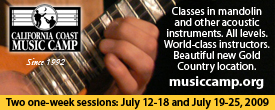 California Coast Music Camp - July 12-18 and July 19-25, 2009