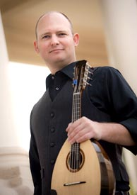 Christopher Acquavella with his Brian N. Dean Mandolin. Photo credit: Gary Payne.