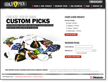 D'Addario Introduces Build A Pick Customization Site