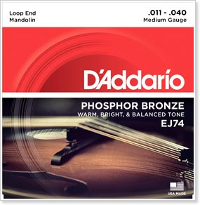 D'Addario EJ74 Phosphor Bronze Mandolin Strings