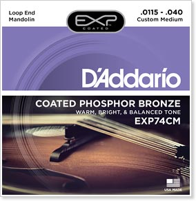D'Addario EXP74CM Mandolin String Set Inspired by Chris Thile. Part of a giveaway to include D'Addario's NS Tuner, Strap and Capo.