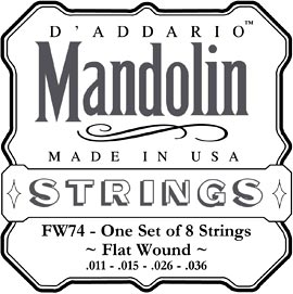 D'Addario Flatwound Mandolin Strings