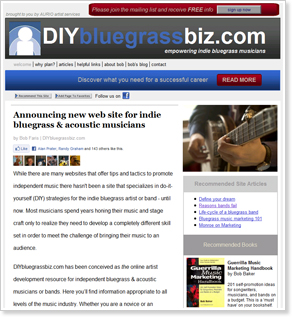 DIY Bluegrass Web Site